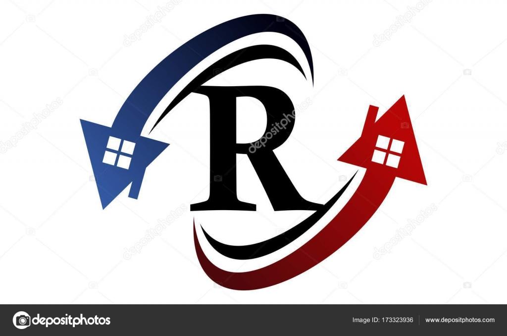 Annunci immobiliari lettera r vettoriali stock for Annunci immobiliari
