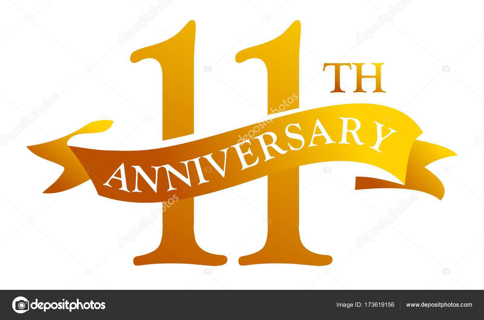 11 11 11 jarig 11 jarig jubileum van de lint — Stockvector © allura#173619156 11 11 11 jarig