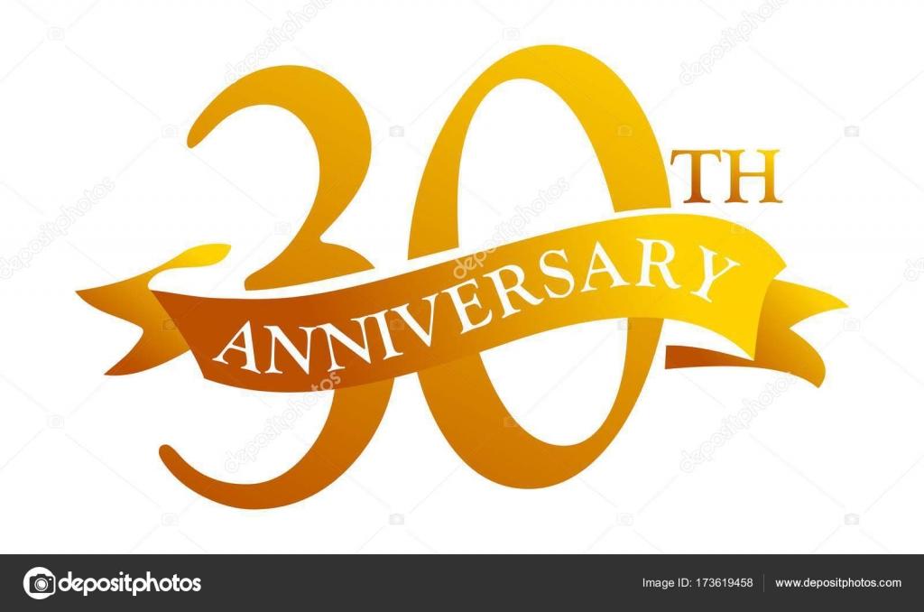 30 jarig jubileum 30 jarig jubileum van de lint — Stockvector © allura#173619458 30 jarig jubileum