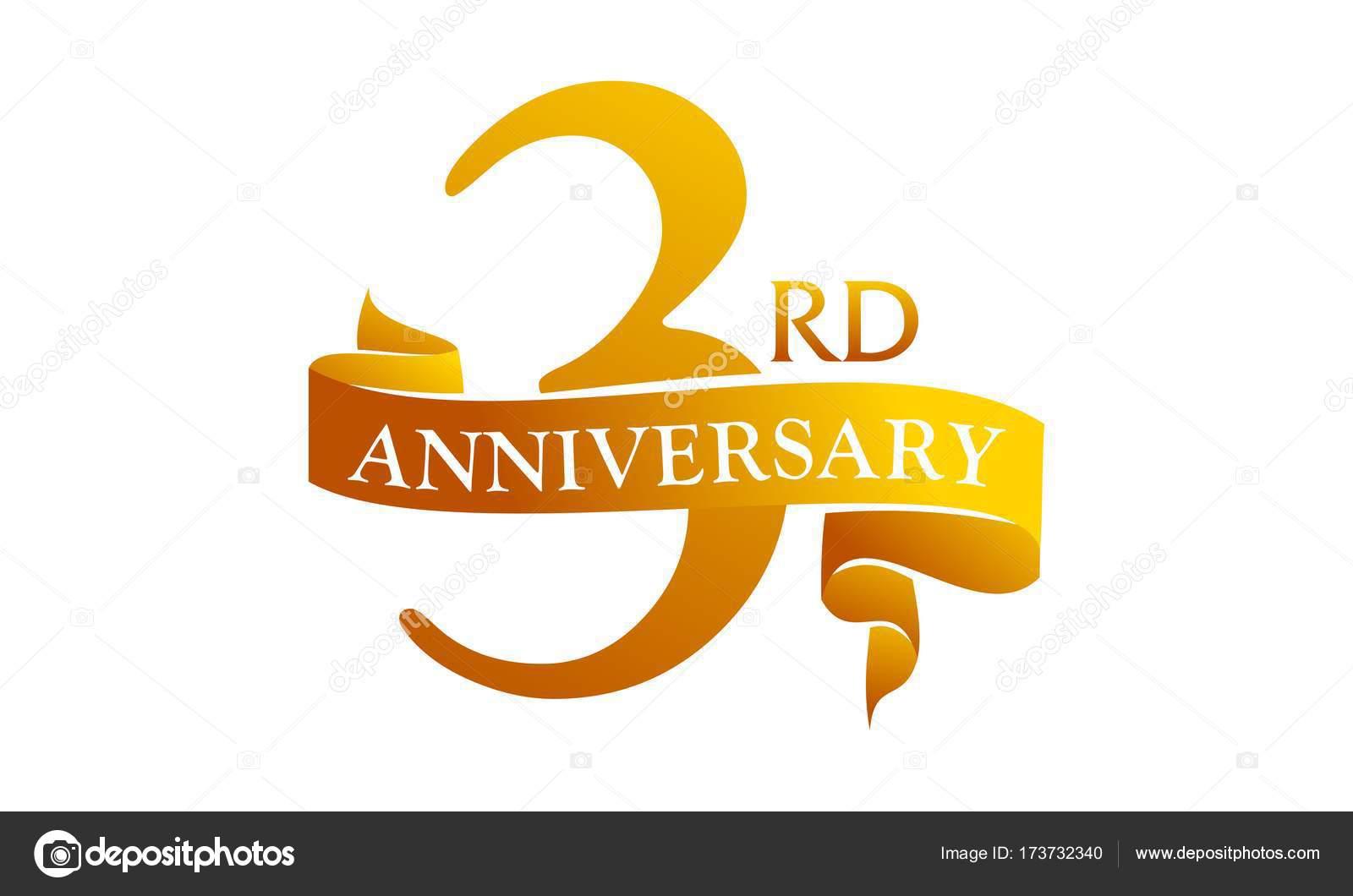 Lint Verjaardag 3 Jaar Stockvector C Alluranet 173732340