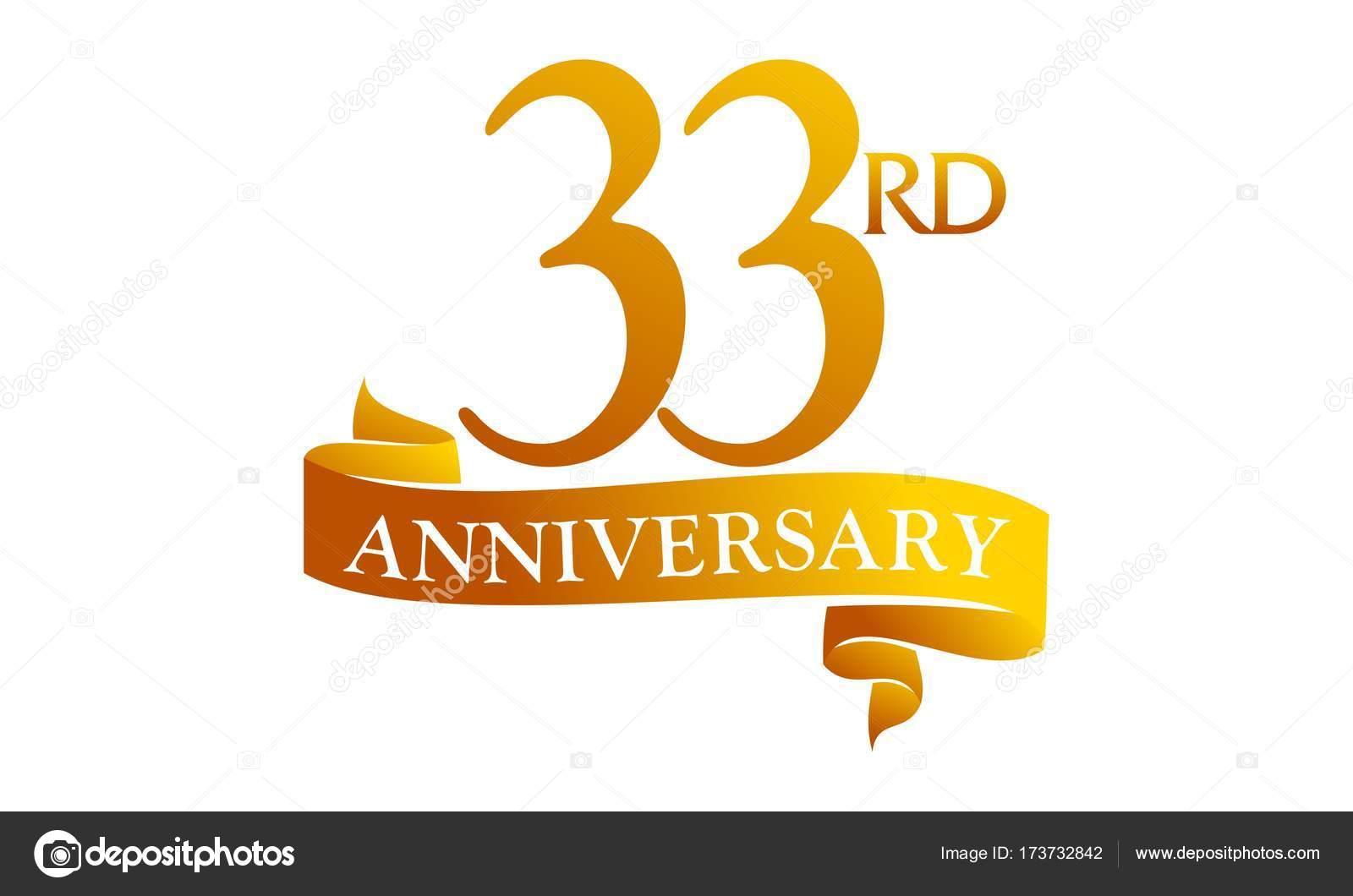 33 Jaar Lint Verjaardag Stockvector C Alluranet 173732842