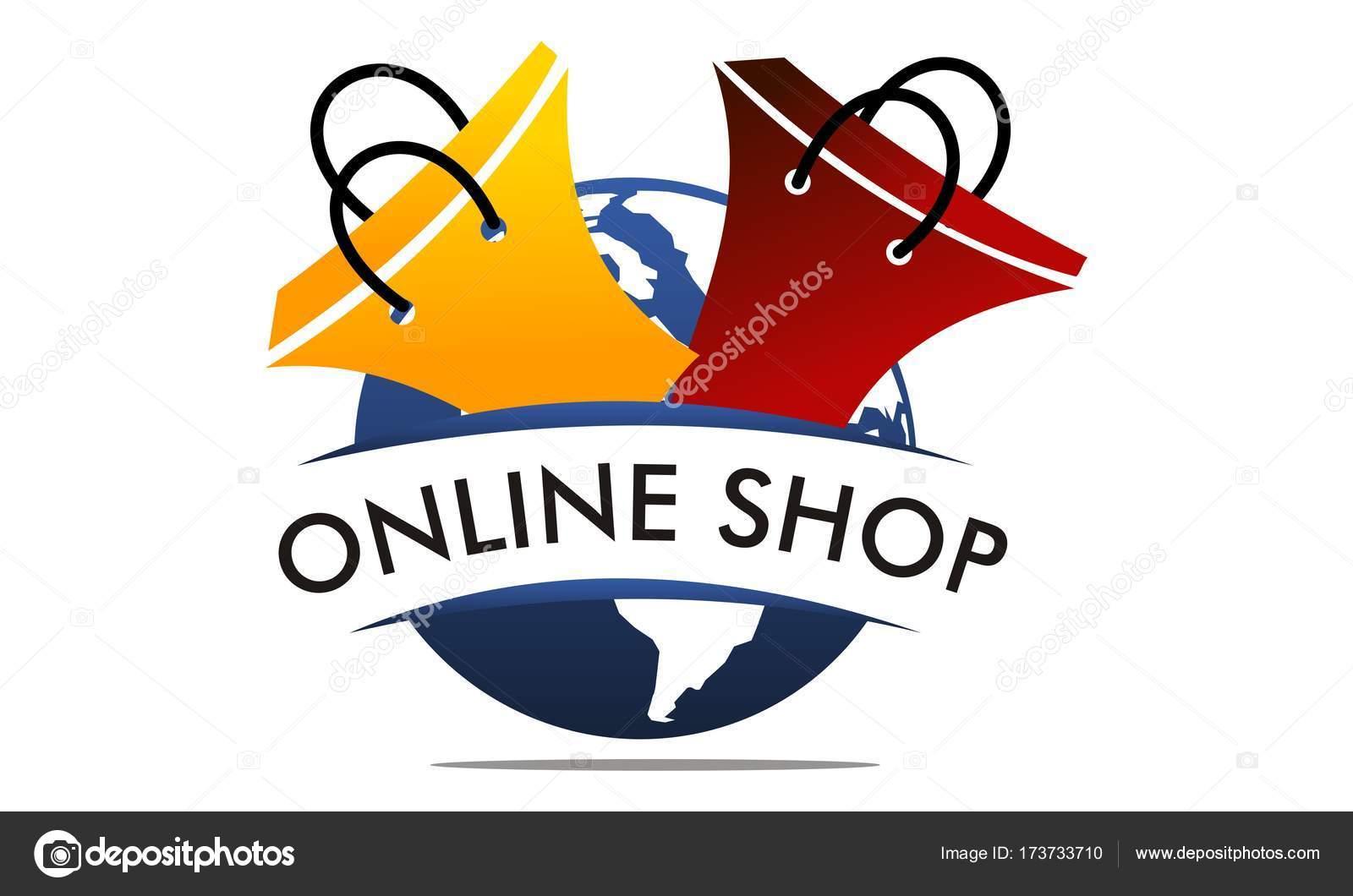 Online Shopping Logo Design Template Vector Stock Vector