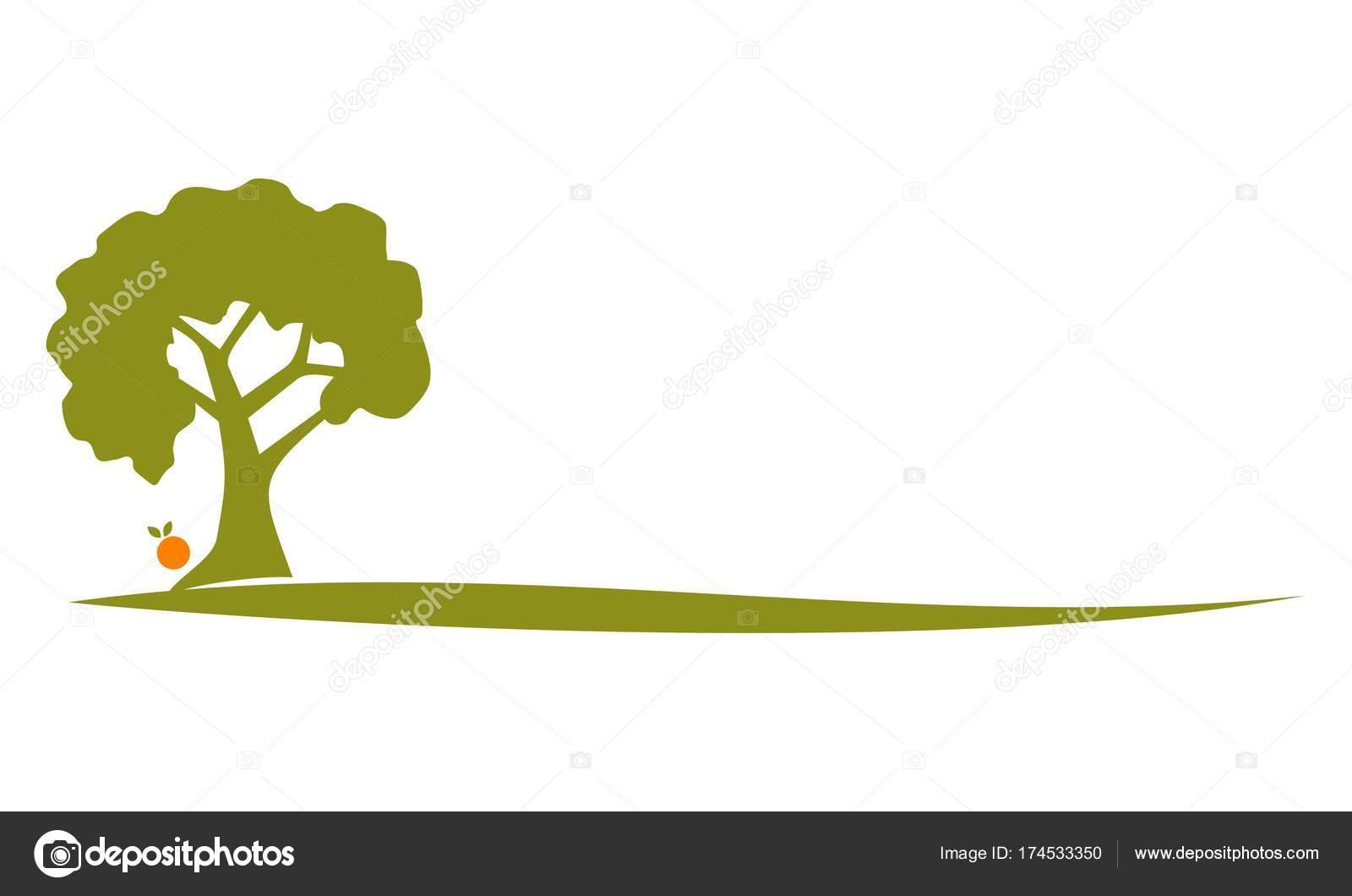Albero di pesco logo design template vettoriale for Peach tree designs