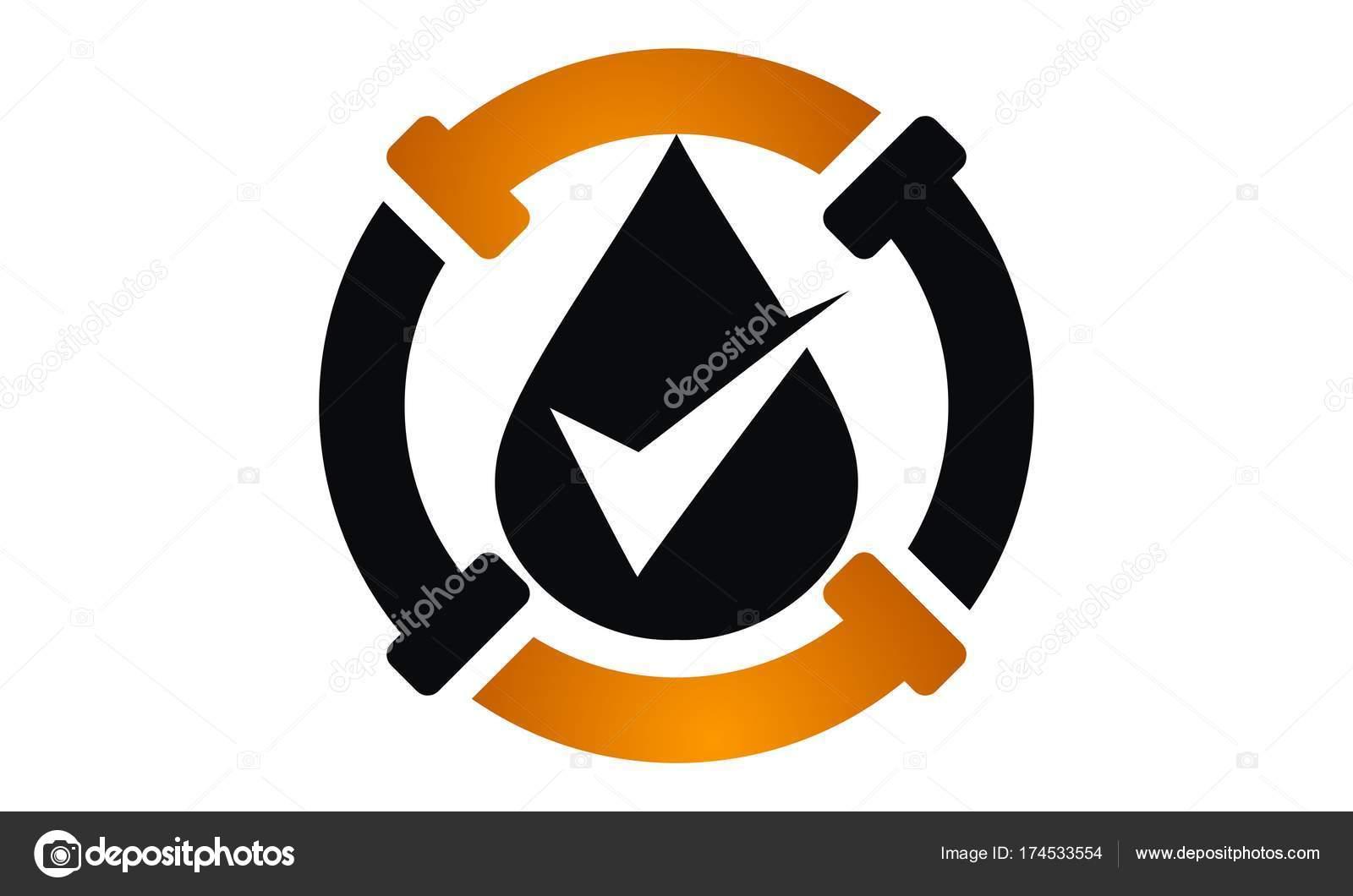 Tubería aceite Logo Diseño plantilla Vector — Vector de stock ...