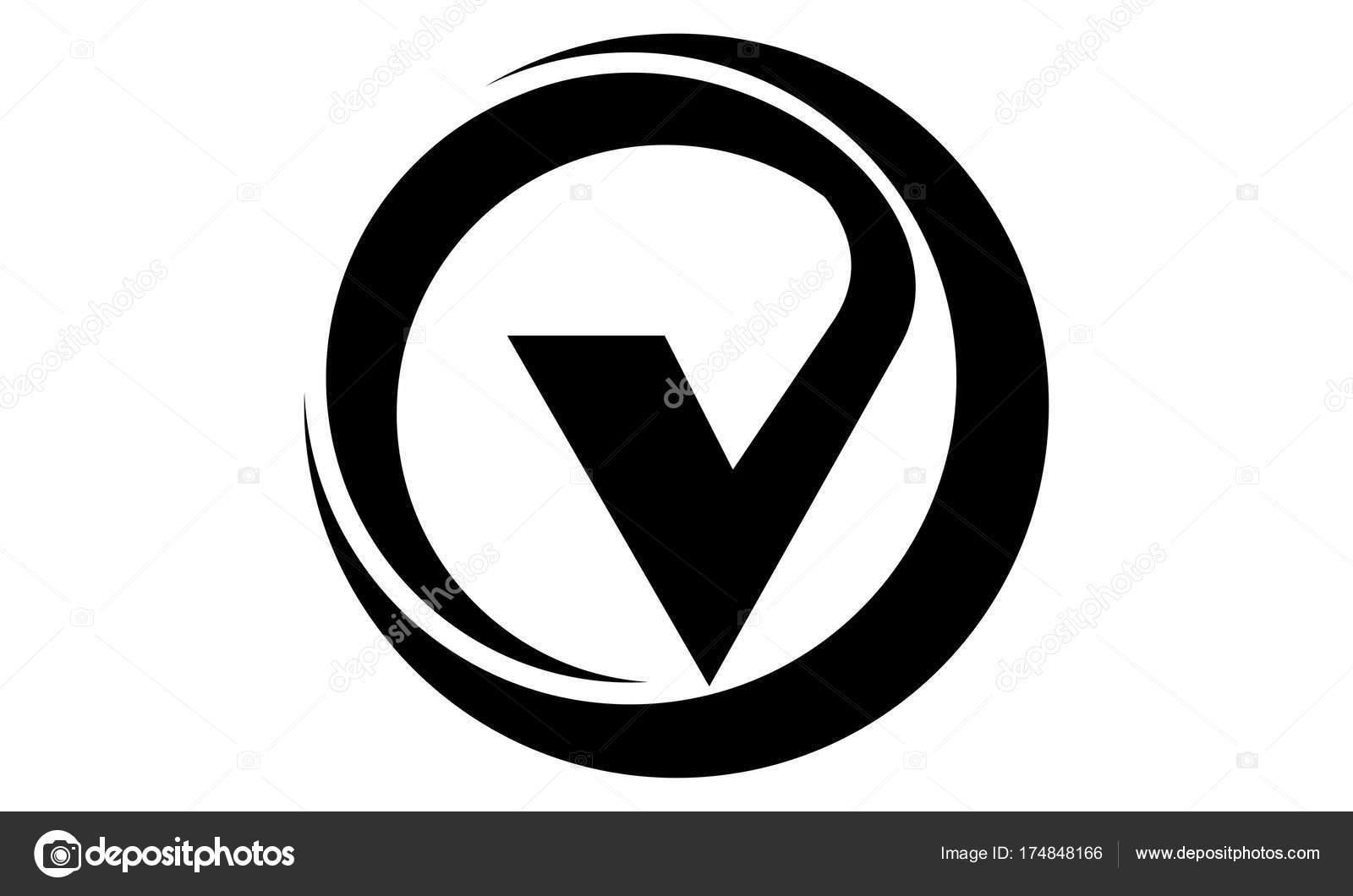 Letter V Emblem — Stock Vector © alluranet #174848166