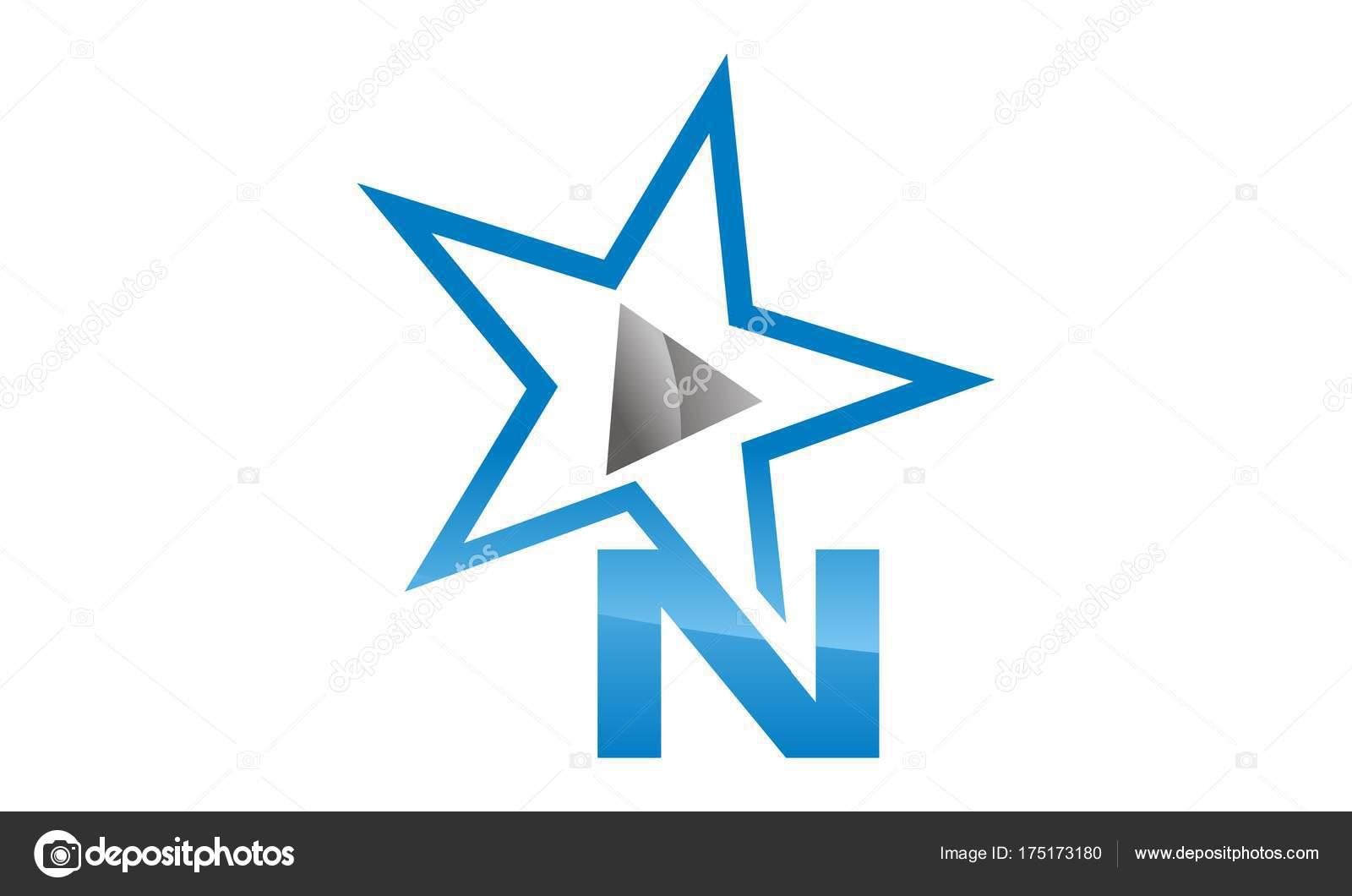 91b62345d Vetores similares livres de royalties  Logotipo de letra N com estrela no estilo  vintage de beisebol