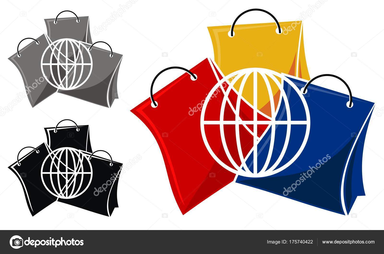 Shop Online Logo Design Template Vector Stock Vector Alluranet