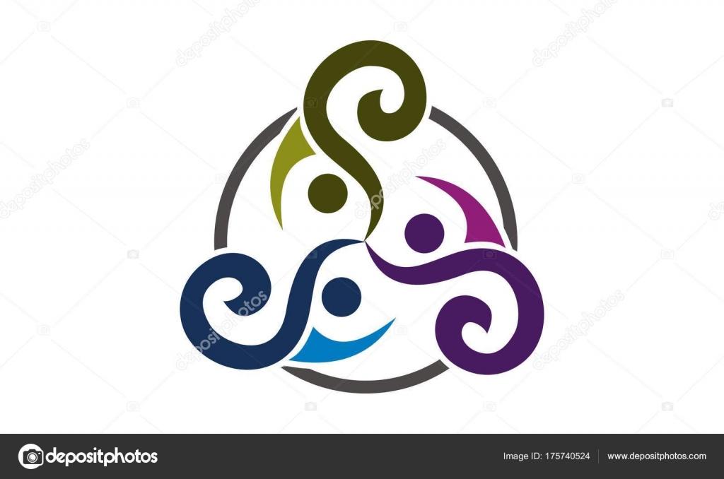 Plantilla de diseño de Logo de Vector de sinergia — Vector de stock ...