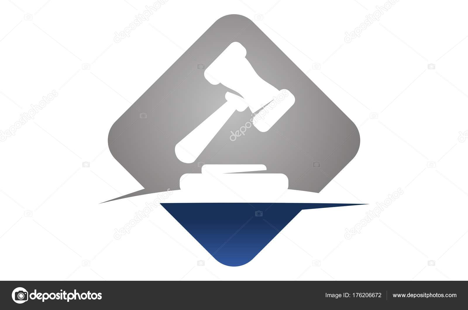 Hammer Legal Auction Logo Design Template Vector By Alluranet