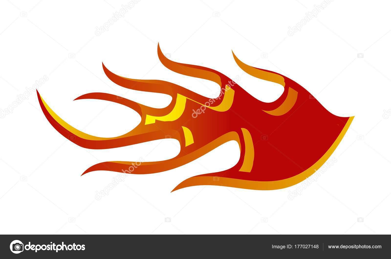 fire racing logo design template vector stock vector alluranet