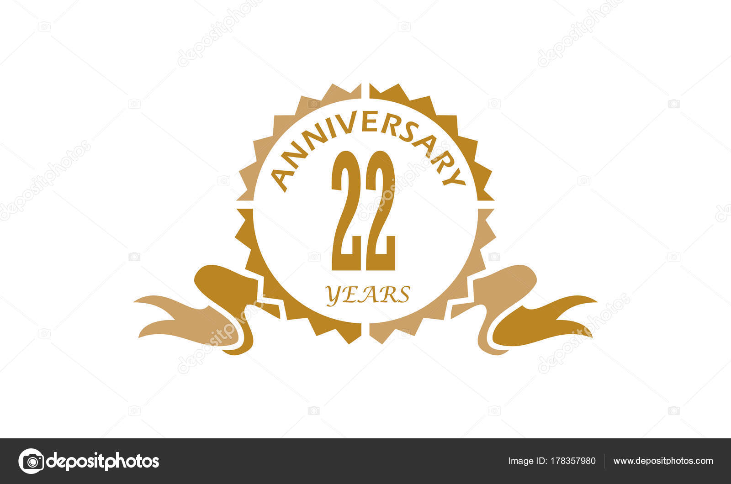 22 years ribbon anniversary stock vector alluranet 178357980