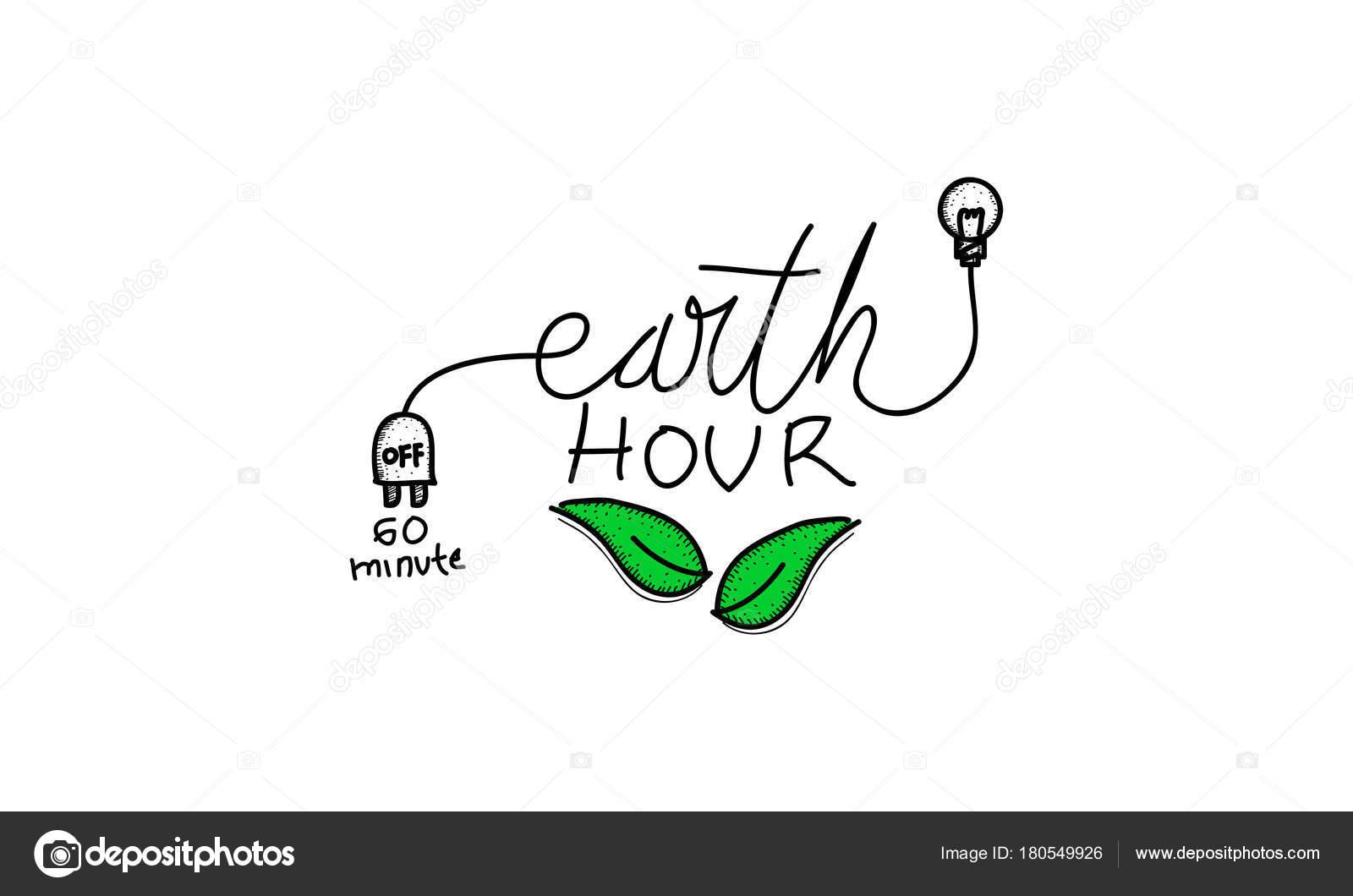 Plantilla de tierra hora 60 minutos — Vector de stock © alluranet ...