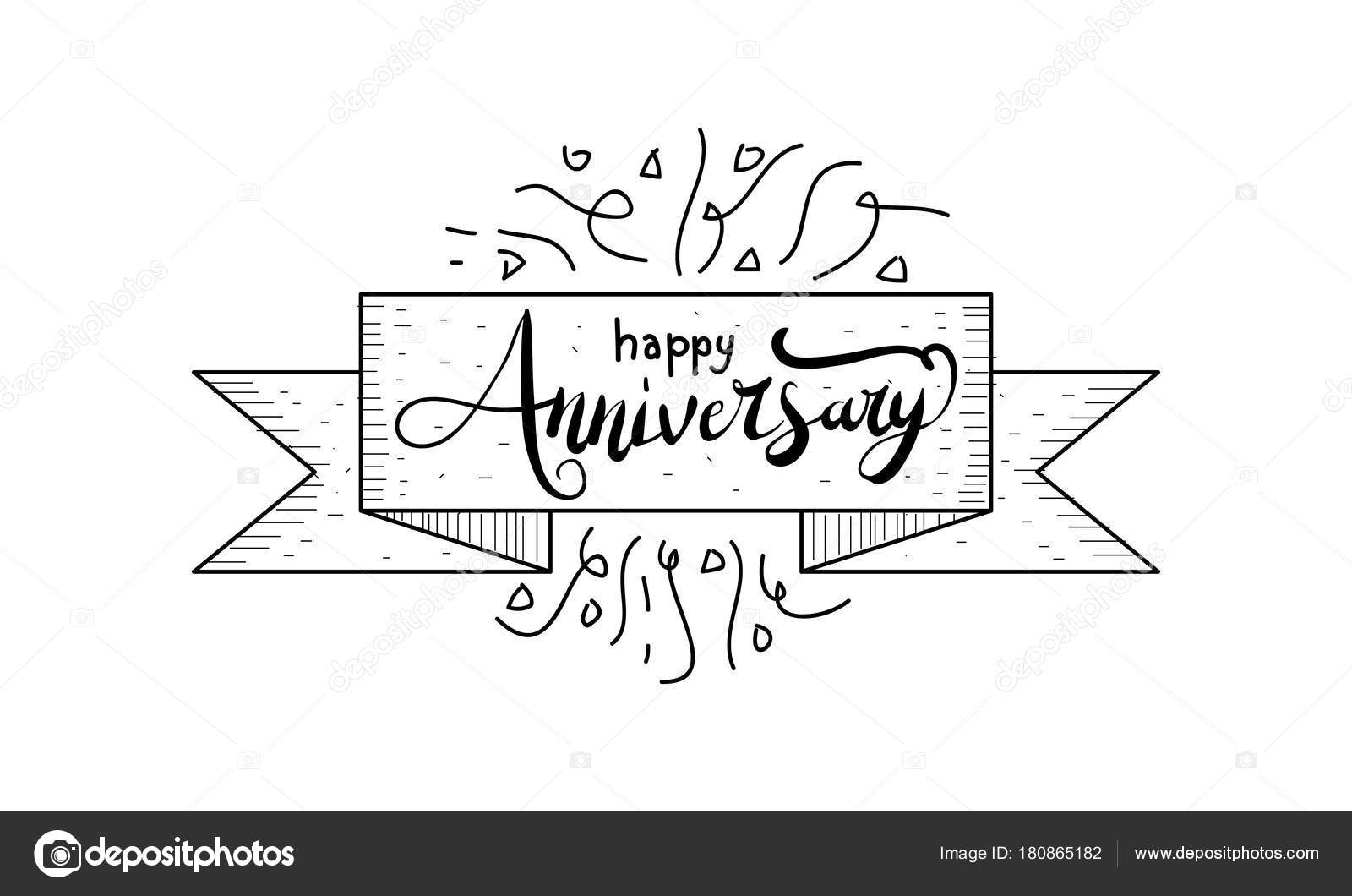 happy anniversary template vector stock vector alluranet 180865182