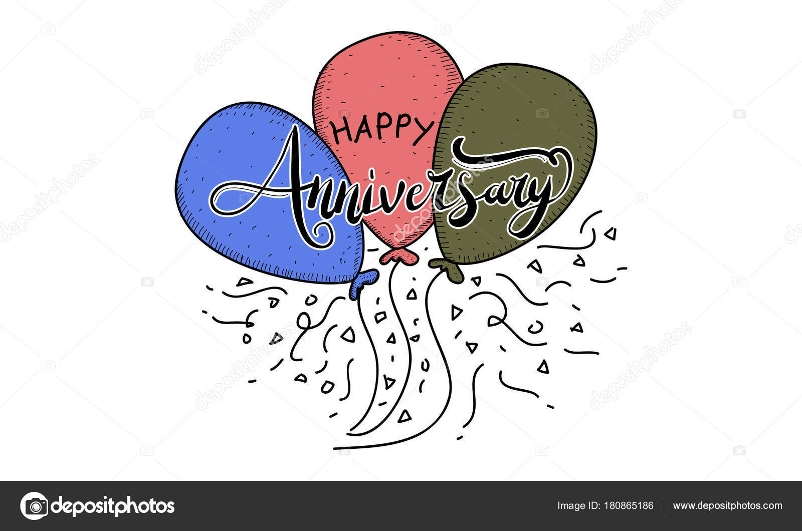 happy anniversary template vector stock vector alluranet 180865186