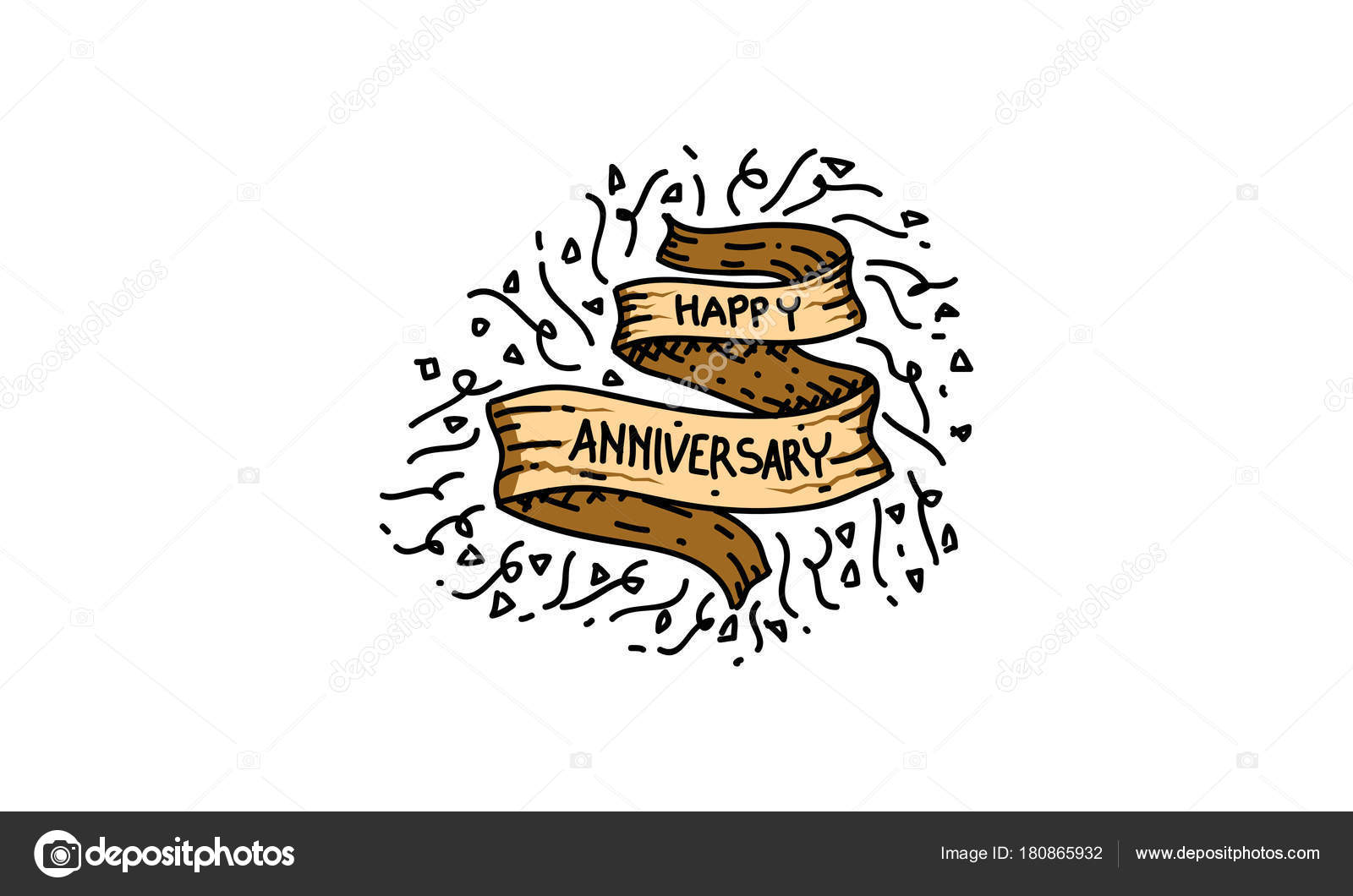 happy anniversary template vector stock vector alluranet 180865932