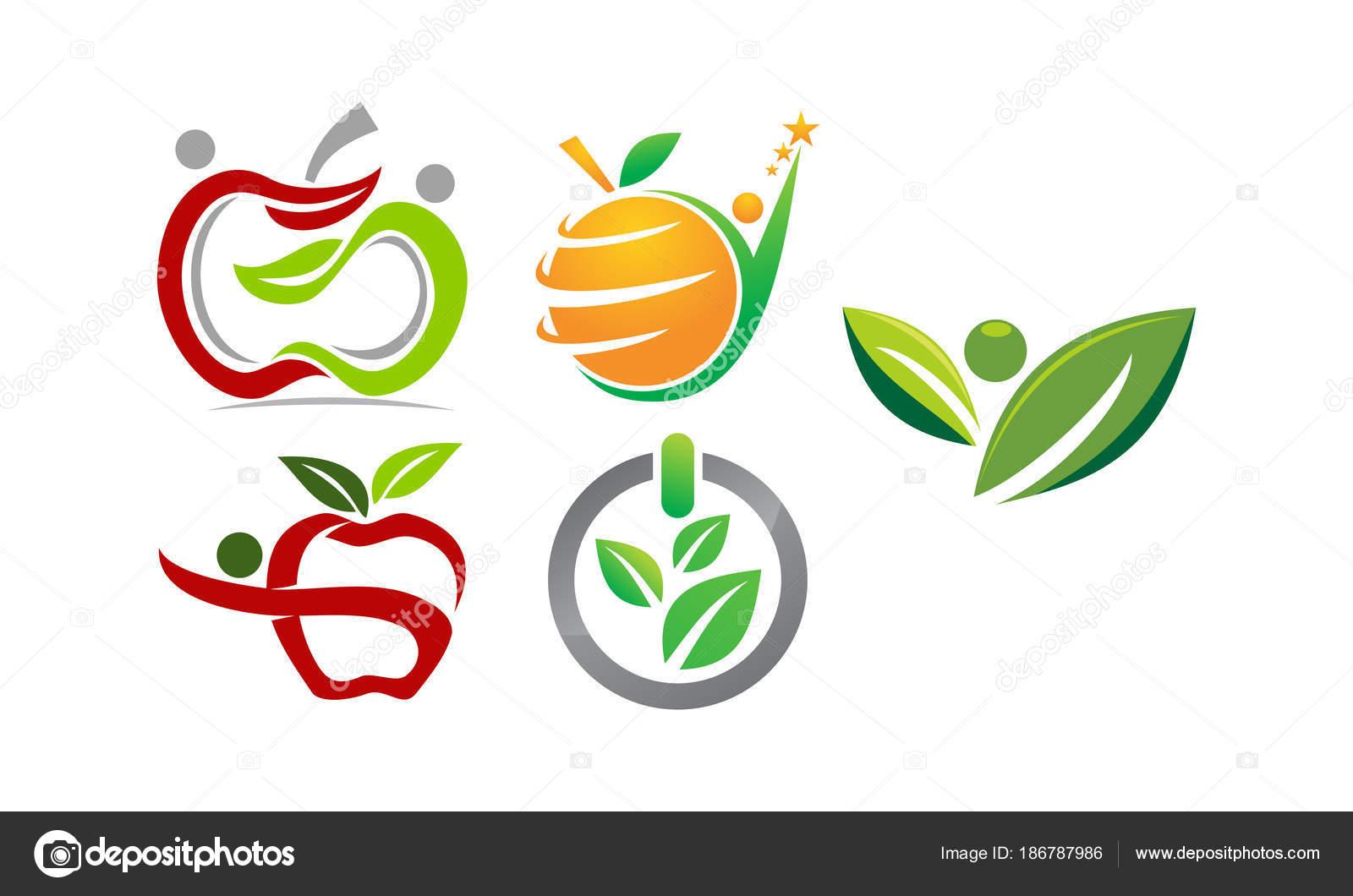 Conjunto de plantillas de salud hoja — Vector de stock © alluranet ...