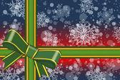 Farbe Geschenkbox mit Schneeflocken mit Band gebunden