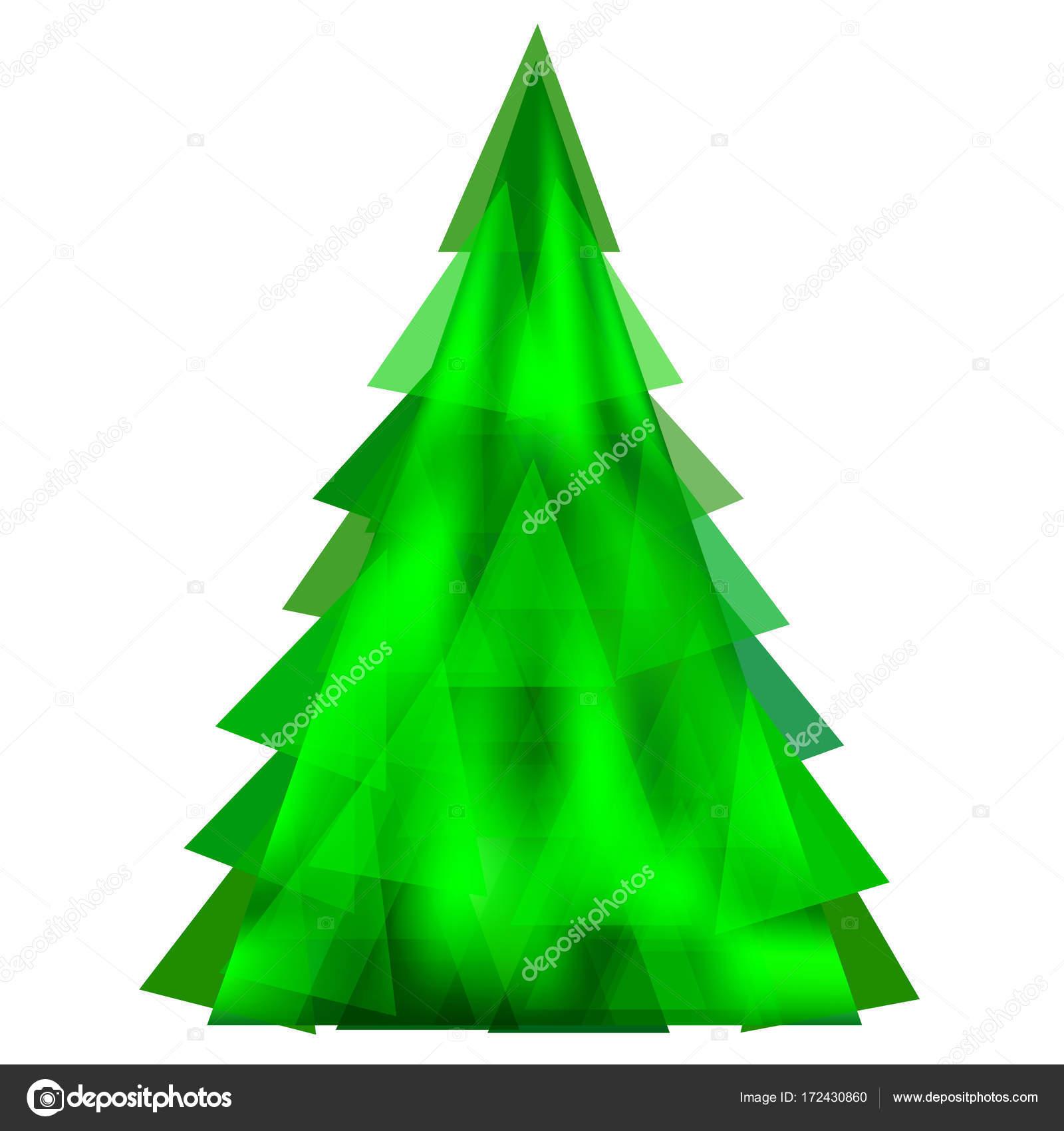 Abstrakt Grün Weihnachtsbaum-Vorlage — Stockvektor © Dobrydnev ...