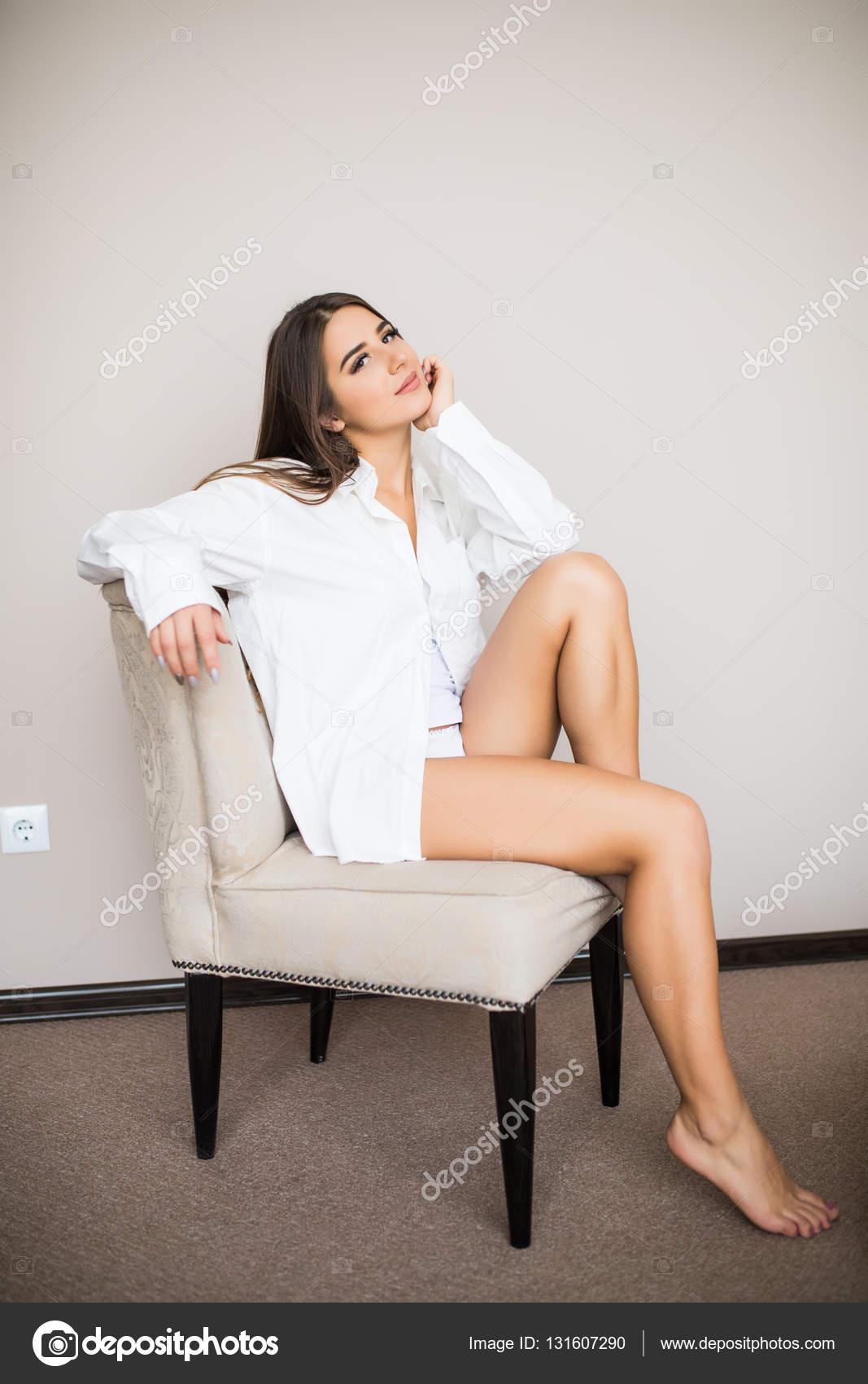 la mejor actitud 1ae7b 5c2d7 Imágenes: mujer con camisa de hombre | mujer en camisa ...