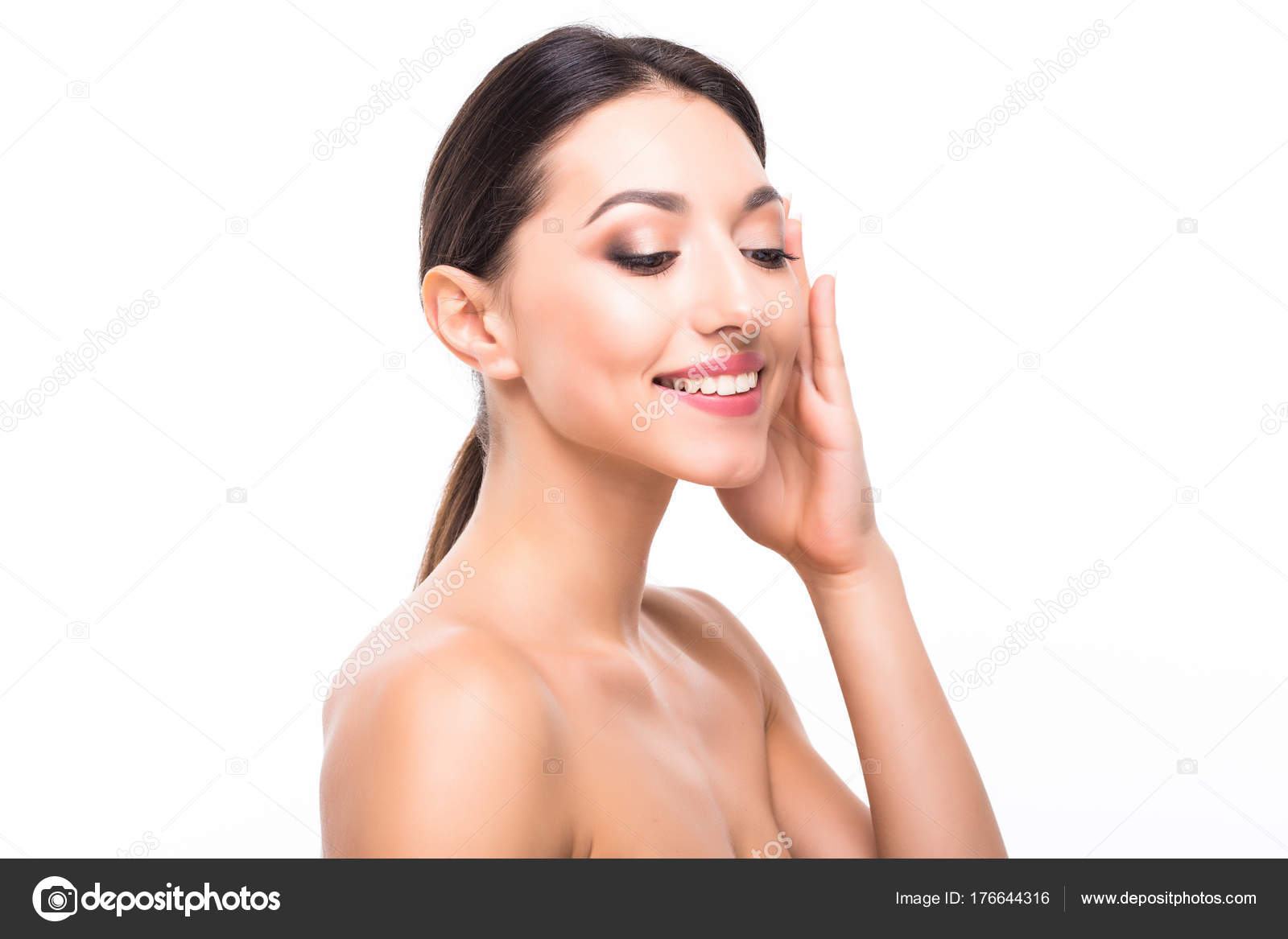 Spa Girl Beautiful Model Woman With Healthy Skin Cute Face Spa Beauty Facial Treatment And Cosmetology Concept Stock Photo C Dan Grytsku Gmail Com 176644316