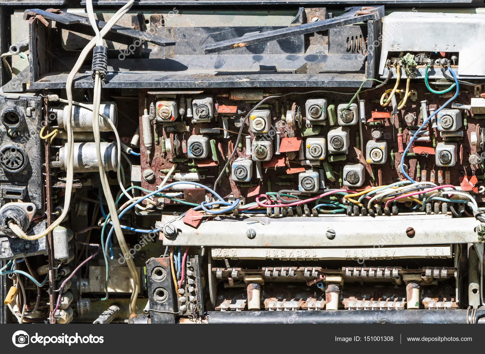 Schema altes Radio, Radio-Teile — Stockfoto © fotogray #151001308