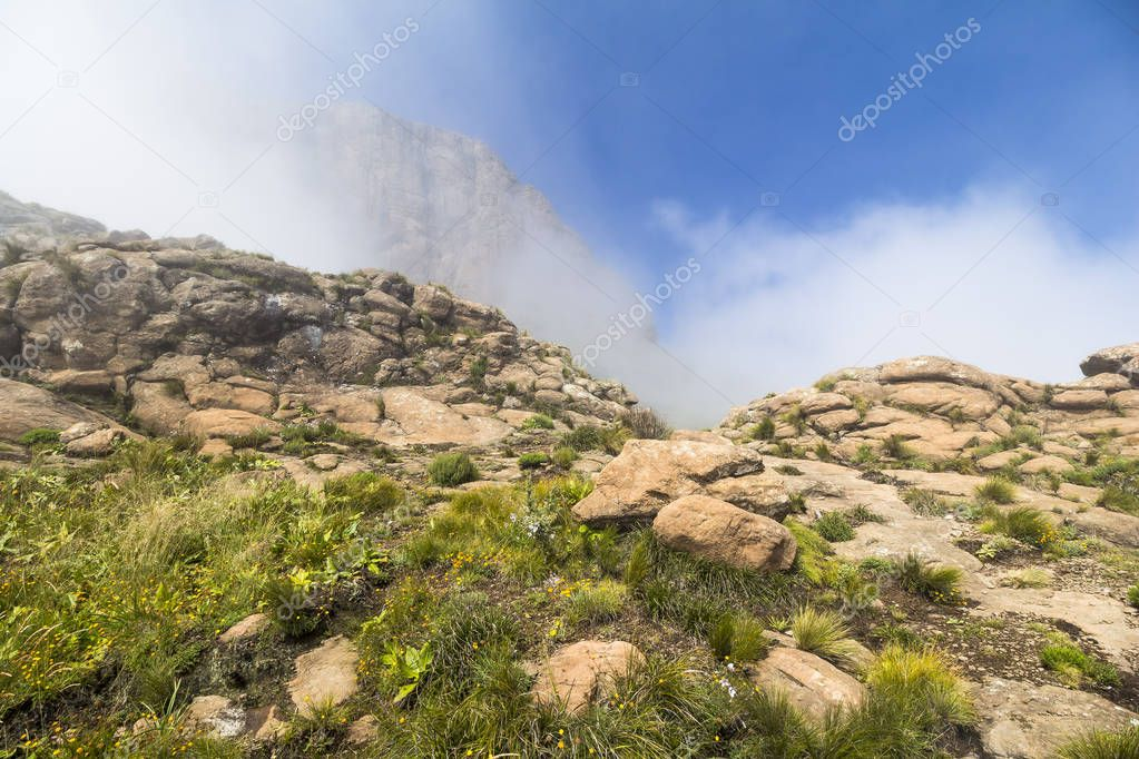 Above the clouds on Sentinel Hike, Drakensberge, South Africa