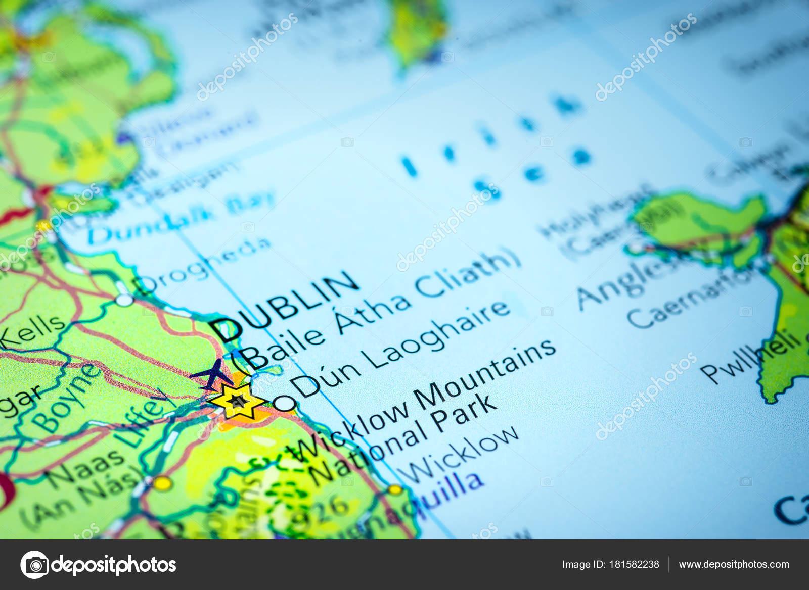 Dublin On Map Of Ireland.Dublin In Ireland On A Map Of Europe Stock Photo C Octavus 181582238