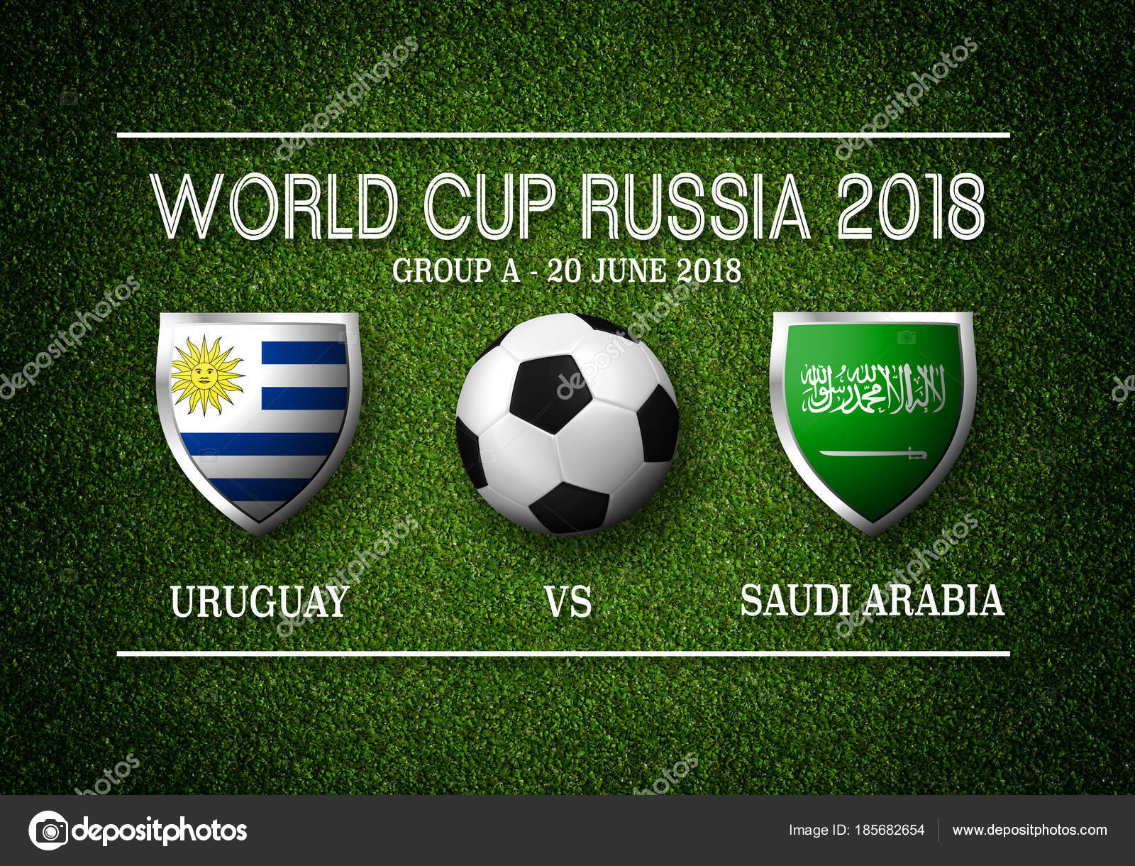 Match Schedule Uruguay Vs Saudi Arabia Stock Photo