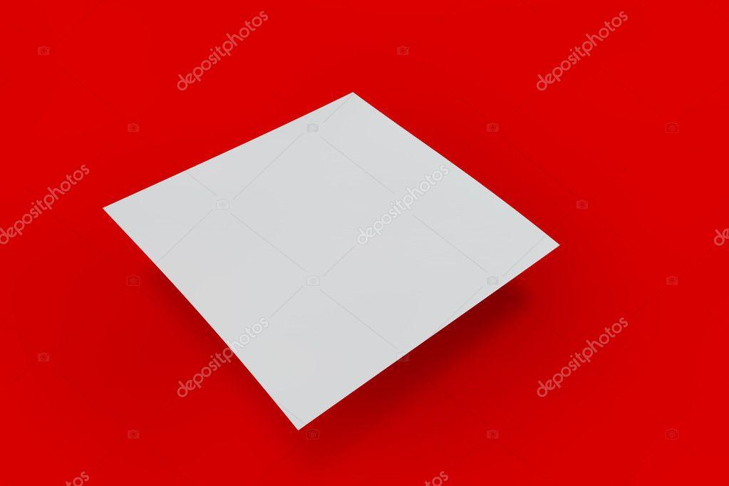 Mock Up Decken Eine Quadratische Form Auf Einem Hintergrund