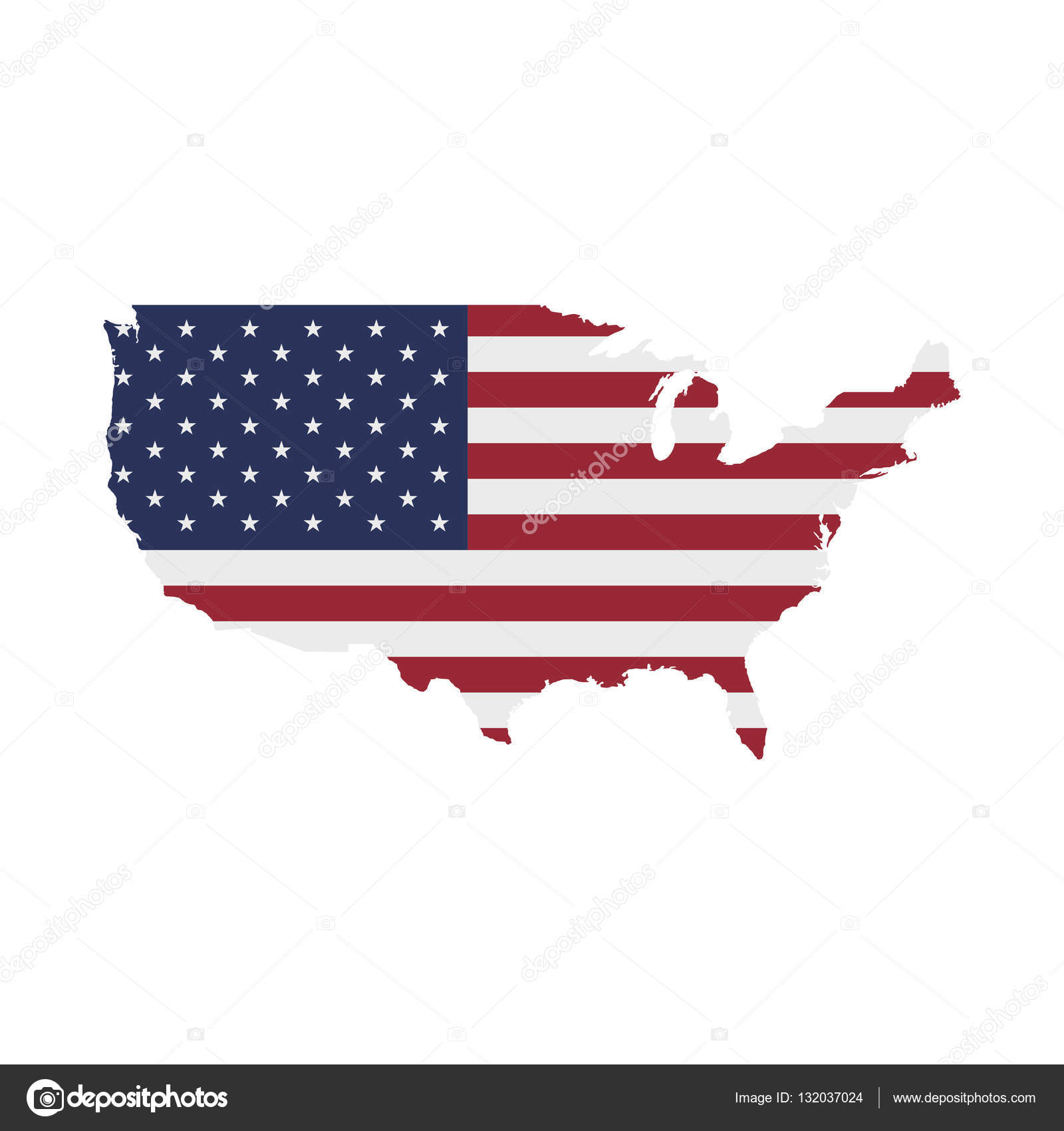 USA Map Flag. United States of America — Stock Vector © vadishzainer ...