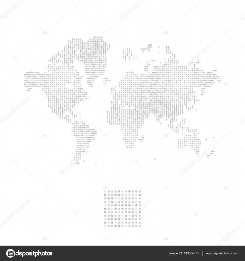 Abstract world map in a round dots stock vector vadishzainer abstract world map in a round dots flat vector illustration eps 10 vector by vadishzainergmail publicscrutiny Gallery
