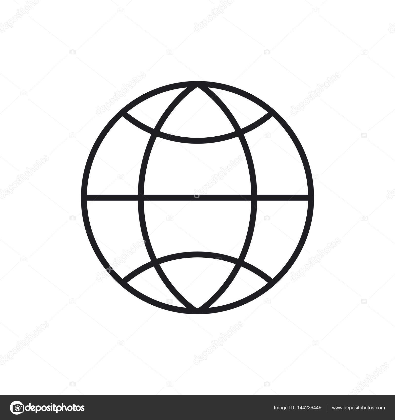 Globus Ikona Na Białym Tle Grafika Wektorowa