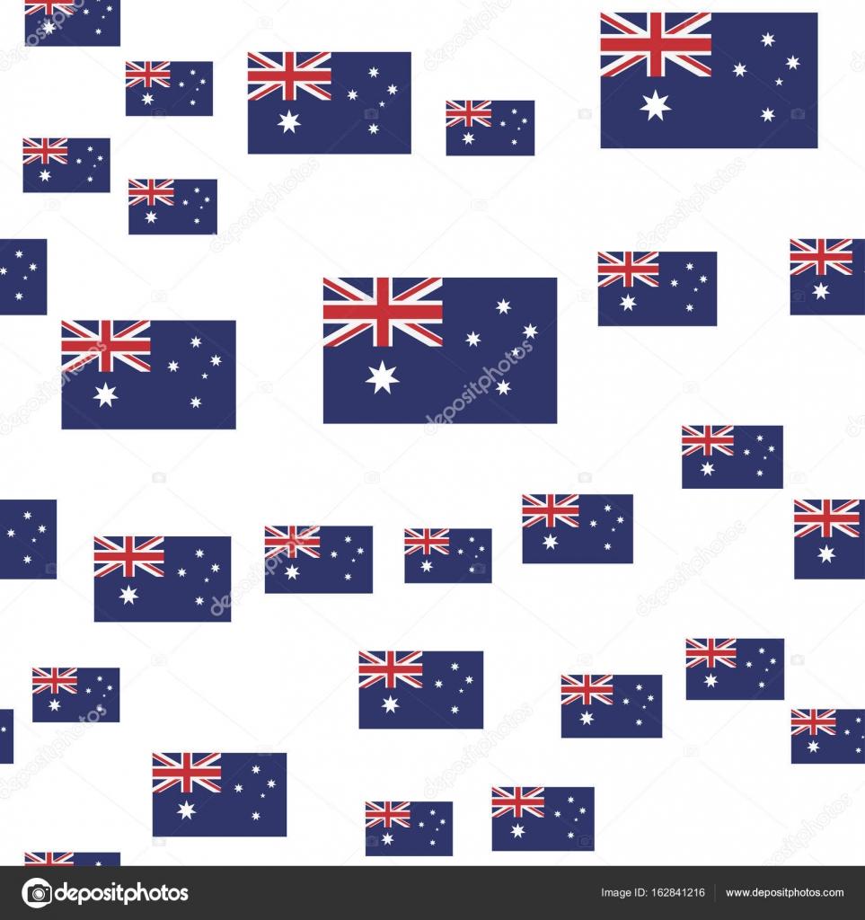 Australiano de patrones sin fisuras con la bandera — Vector de stock ...