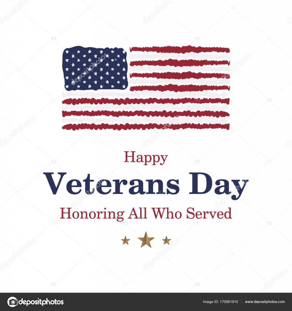 Happy veterans day greeting card with usa flag on background happy veterans day greeting card with usa flag on background stock vector m4hsunfo