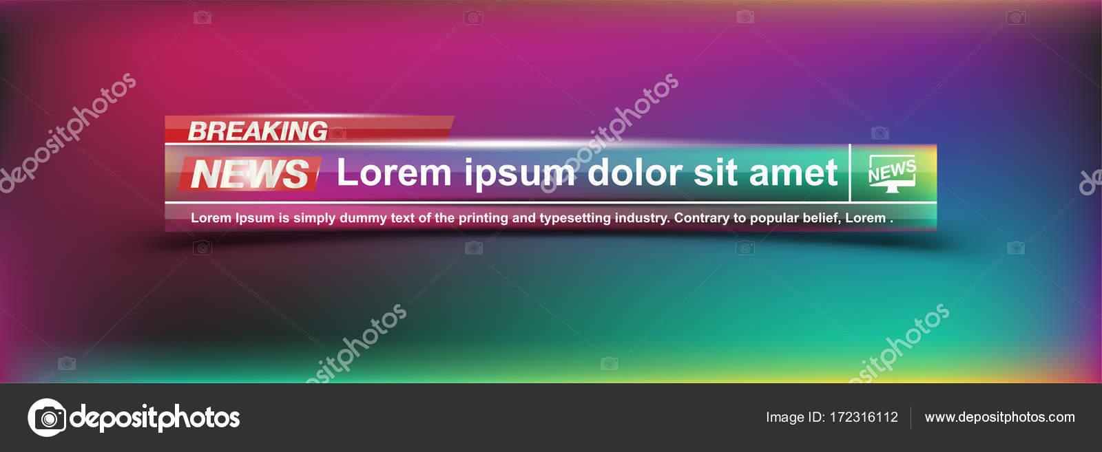 Breaking News Vorlagen Titel auf Farbe Hintergrund für Bildschirm-Tv ...