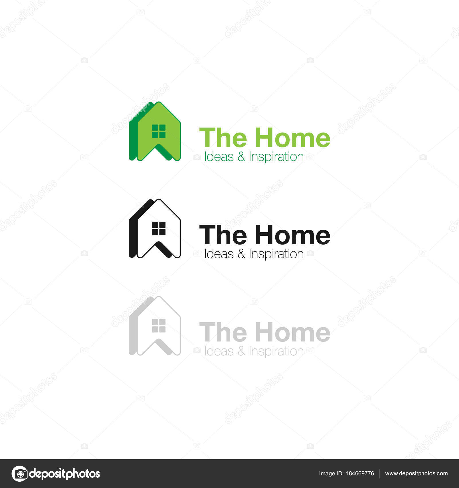 Vector Logo Home Ideas And Inspiration Abstract Concept Icon For