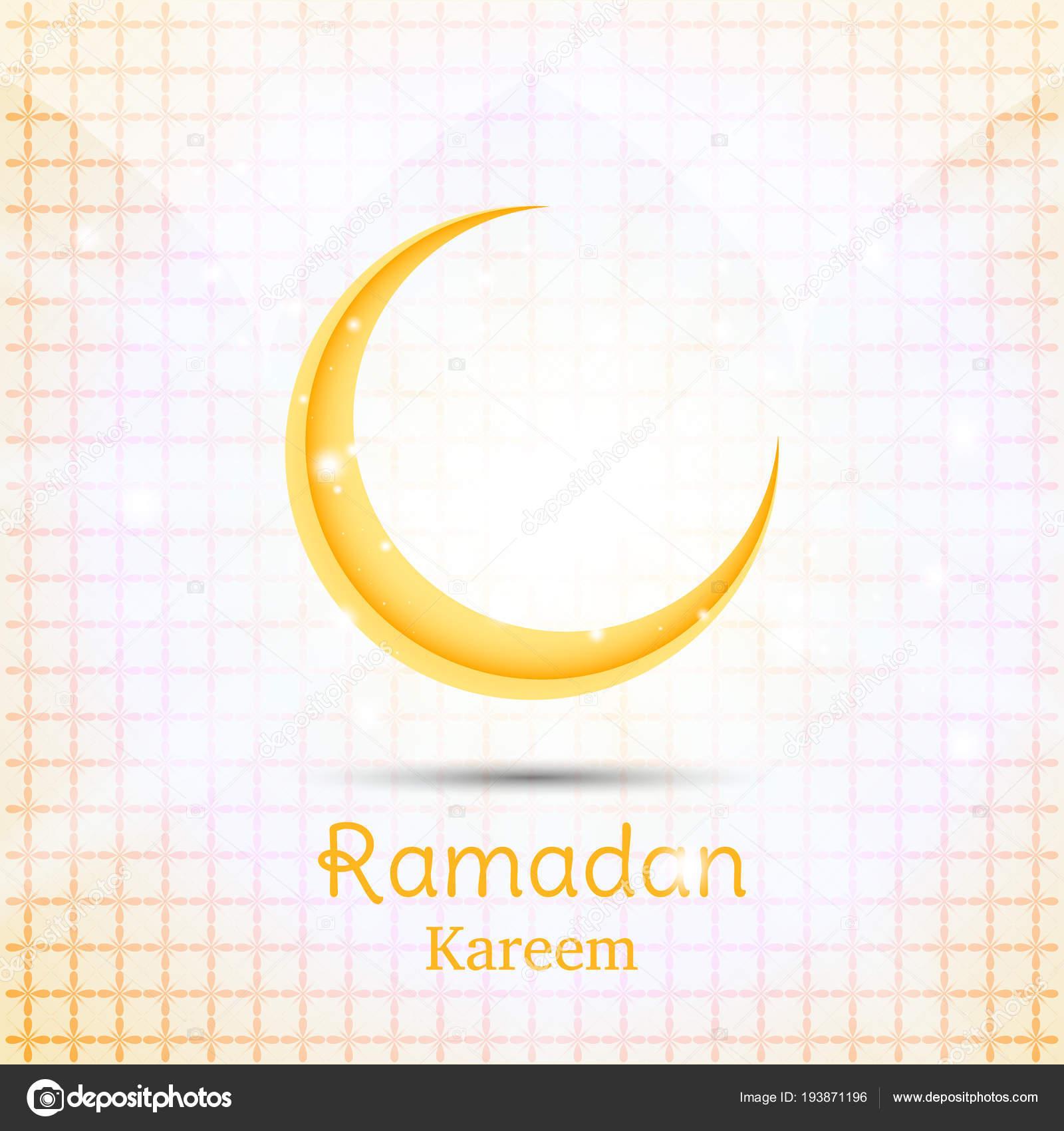 muslim feast of the holy month of ramadan kareem greeting card