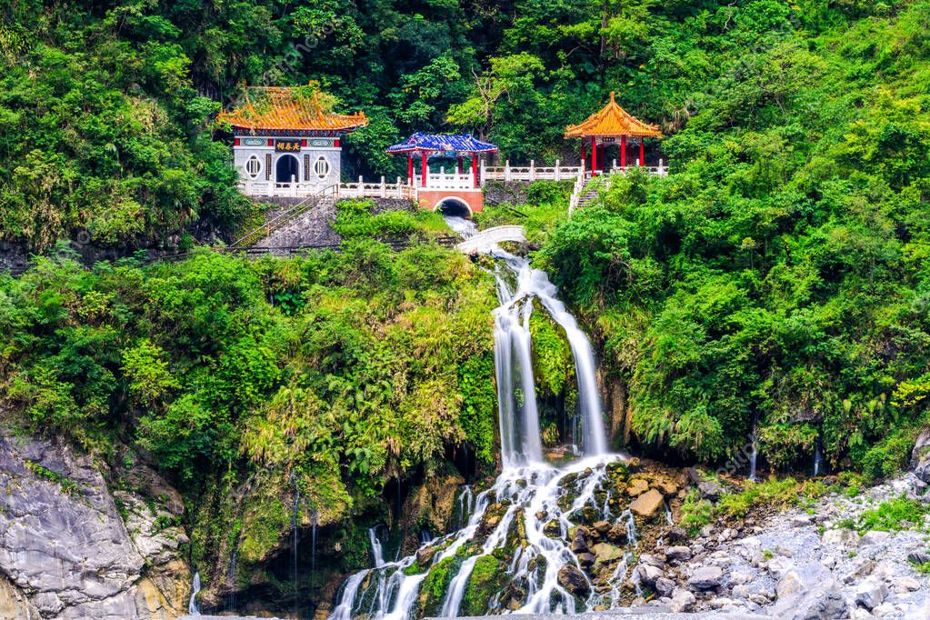 Changchun temple in Taroko National Park in Hualien, Taiwan