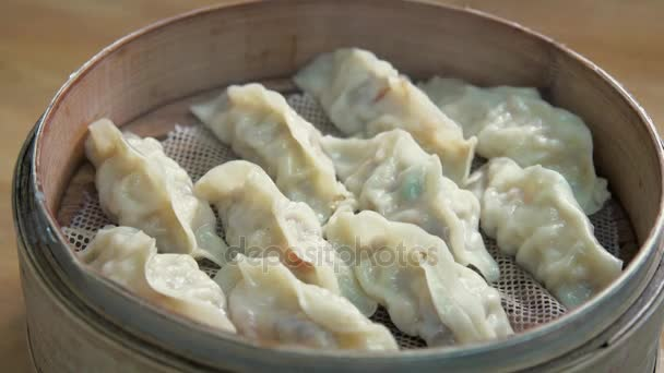 Streamed vegeterian dumplings chinese food