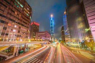 Taipei World Trade Center  at dusk
