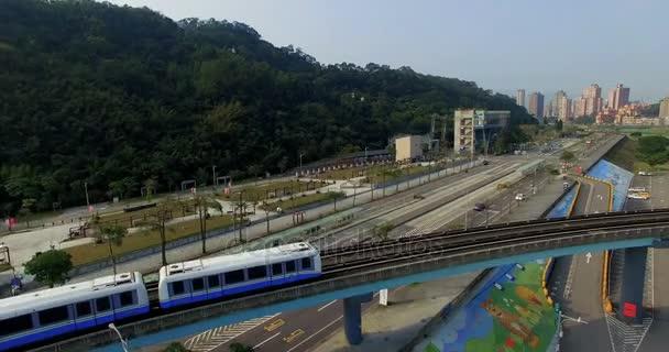 Aerial shot of the Taipei MRT