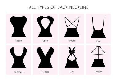 set of back neckline types