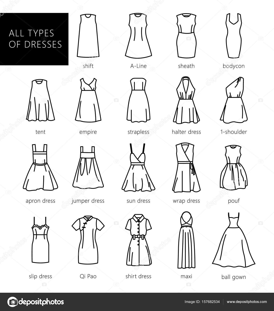 soorten jurken