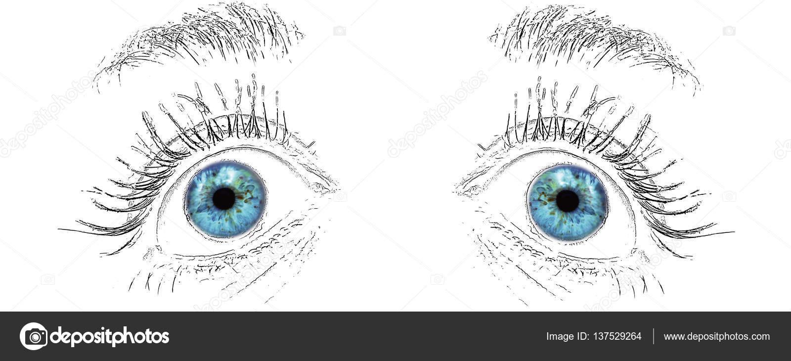 Sad Eyes Expression Draw Stock Photo C Mkarco 137529264