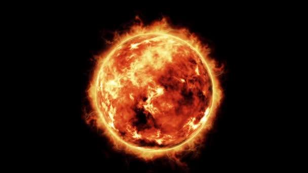 hořící koule abstraktní animace
