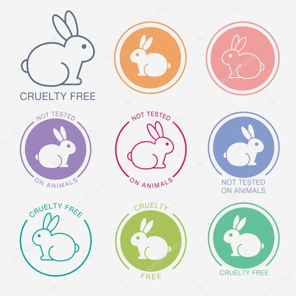 No animals testing icon. Animal cruelty free icon. — Stock ...