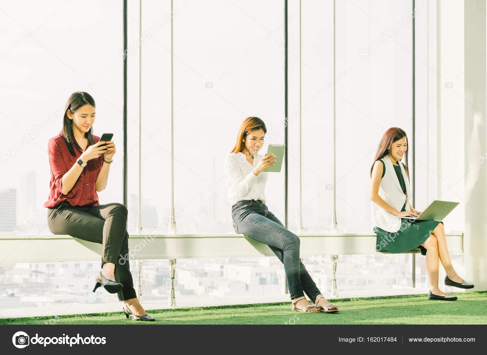 Asian girls office