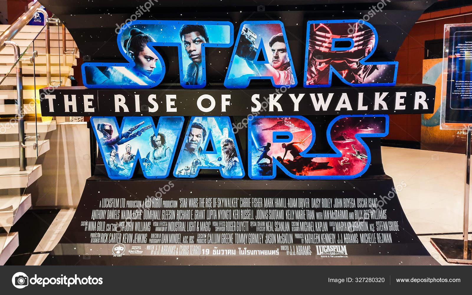 Bangkok Thailand Dec 2019 Star Wars Rise Skywalker Movies Logo Stock Editorial Photo C Beer5020 Gmail Com 327280320