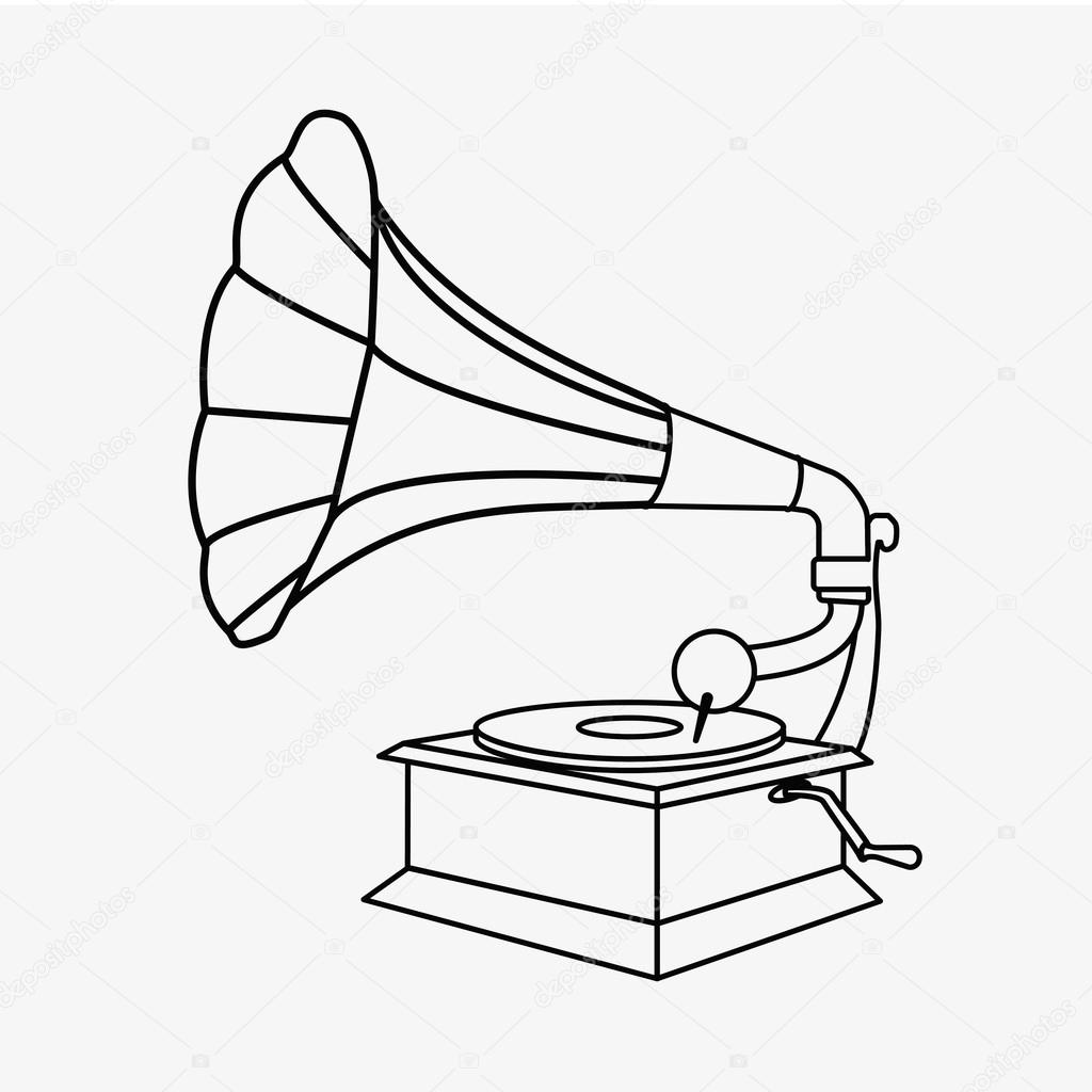 old gramophone vector stock vector c hlivnyk a gmail com 126665070 https depositphotos com 126665070 stock illustration old gramophone vector html
