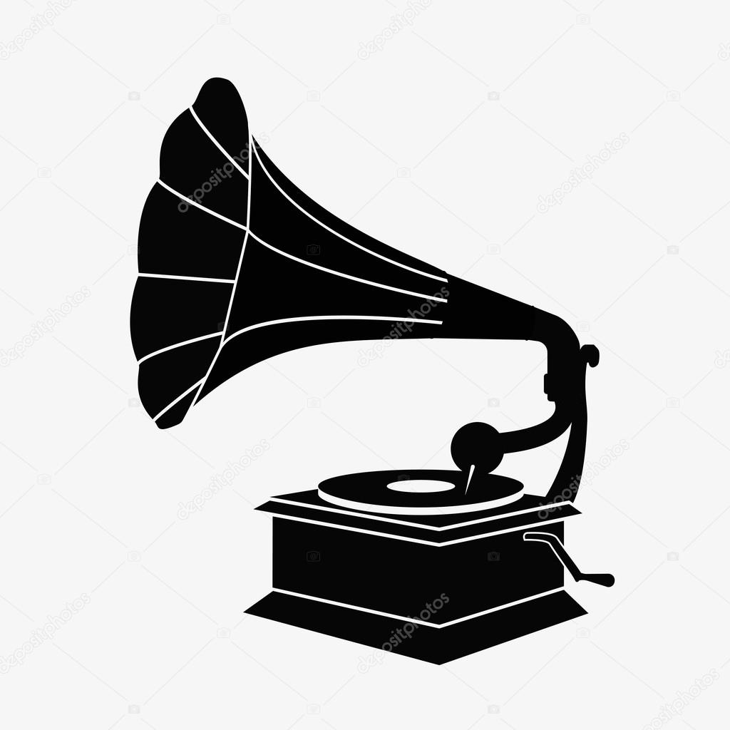 old gramophone vector stock vector c hlivnyk a gmail com 126668408 https depositphotos com 126668408 stock illustration old gramophone vector html